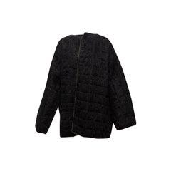 Geoffrey Beene Black Mohair Jacket