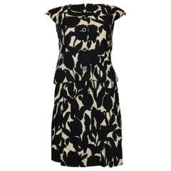 Geoffrey Beene Black & White Floral 2PC Top & Skirt Circa 1960s