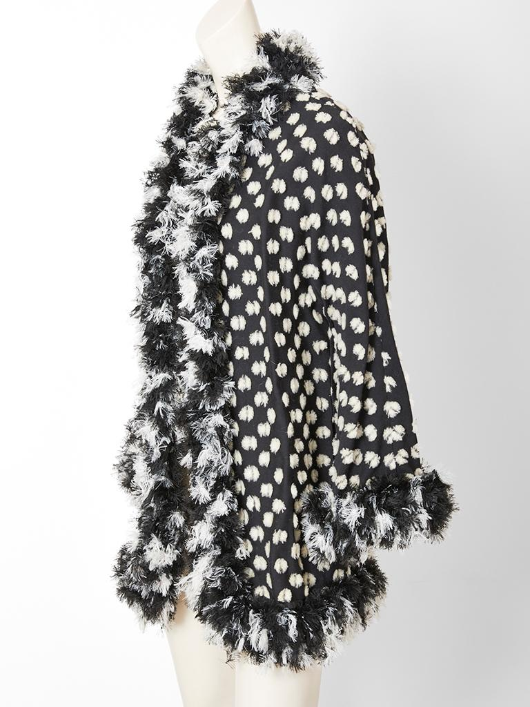 Geoffrey Beene,  whimsical, black and white jacket having a
