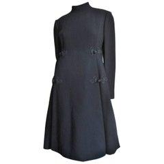 Geoffrey Beene Dress with Silk Knot Detail 1960s