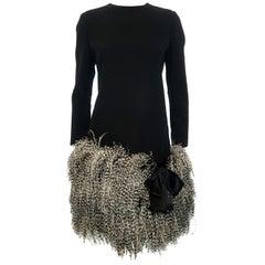 Geoffrey Beene  Feather Dress