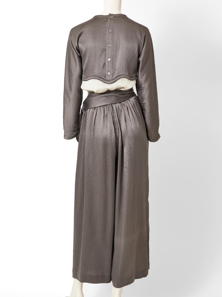 Geoffrey Beene Hammered Satin Palazzo Pant Ensemble  For Sale 2