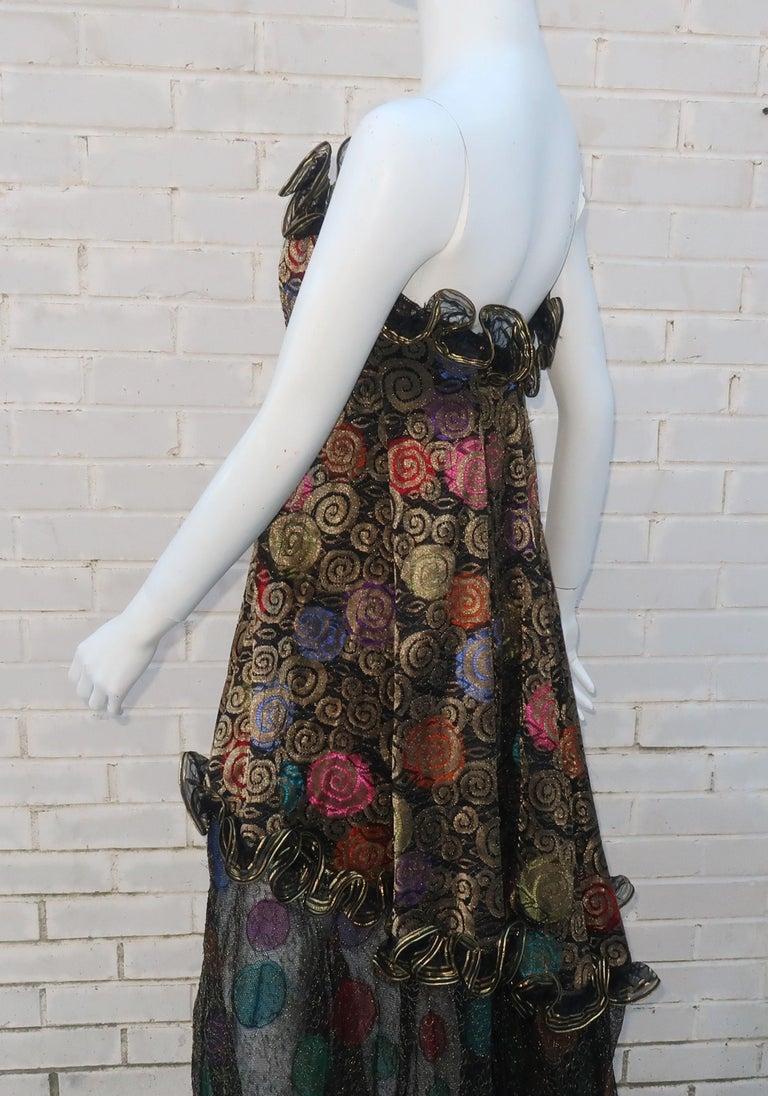 Geoffrey Beene Klimt Inspired Strapless Evening Dress, 1988 For Sale 6