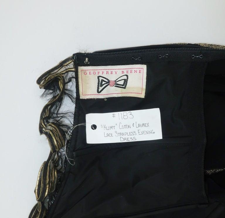 Geoffrey Beene Klimt Inspired Strapless Evening Dress, 1988 For Sale 10