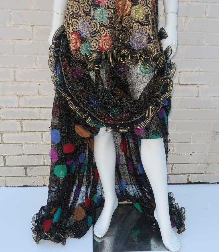 Women's Geoffrey Beene Klimt Inspired Strapless Evening Dress, 1988 For Sale