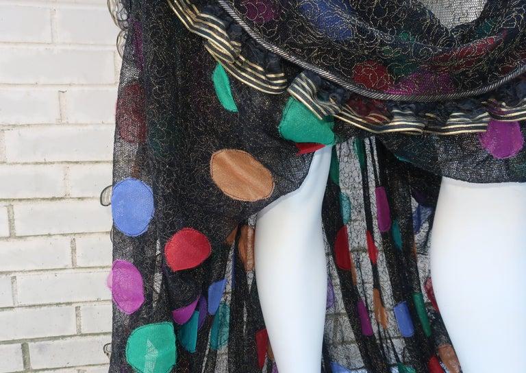 Geoffrey Beene Klimt Inspired Strapless Evening Dress, 1988 For Sale 1