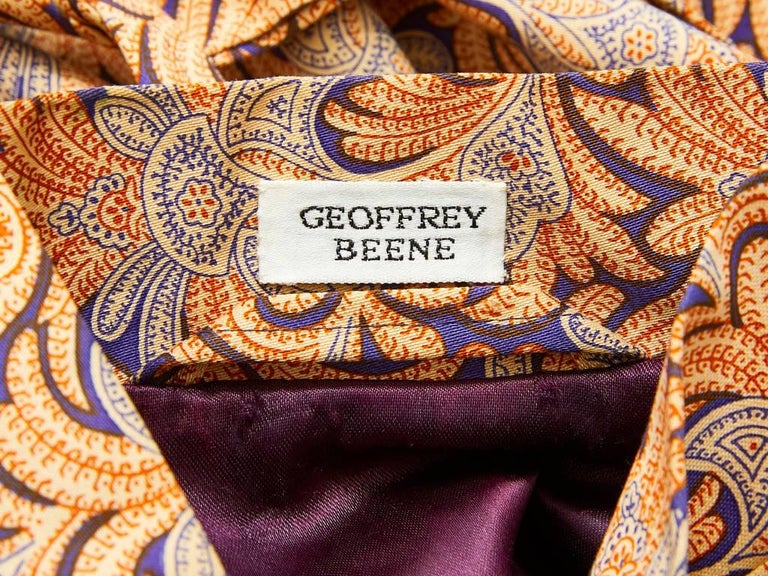 Geoffrey Beene Patterned Belted Kimono  In Excellent Condition For Sale In New York, NY