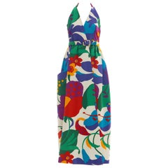 Geoffrey Beene Runway Floral Cotton Matelassé Sleeveless Dress, Spring 1972