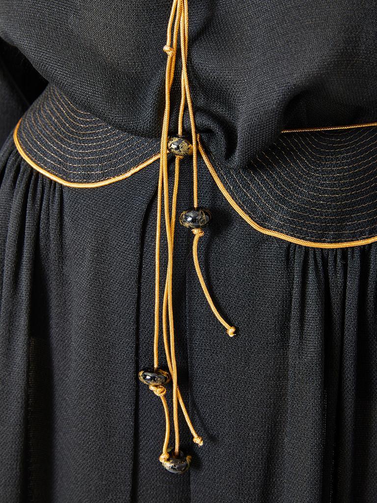 Black Geoffrey Beene Silk Skirt Ensemble  For Sale