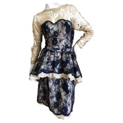 Geoffrey Beene Vintage Lace Two Piece Dress Set