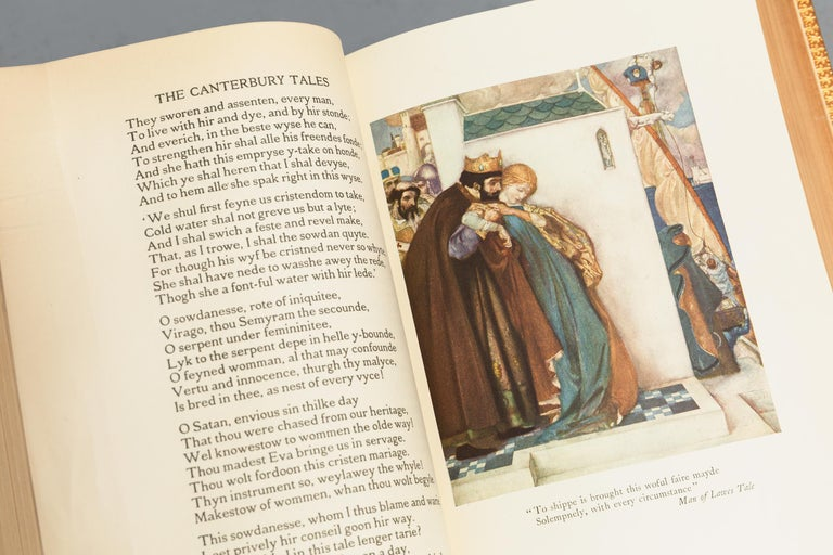 Early 20th Century Geoffrey Chaucer, The Canterbury Tales For Sale