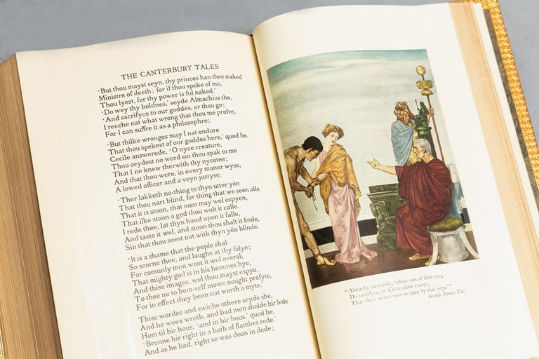 Leather Geoffrey Chaucer, The Canterbury Tales For Sale