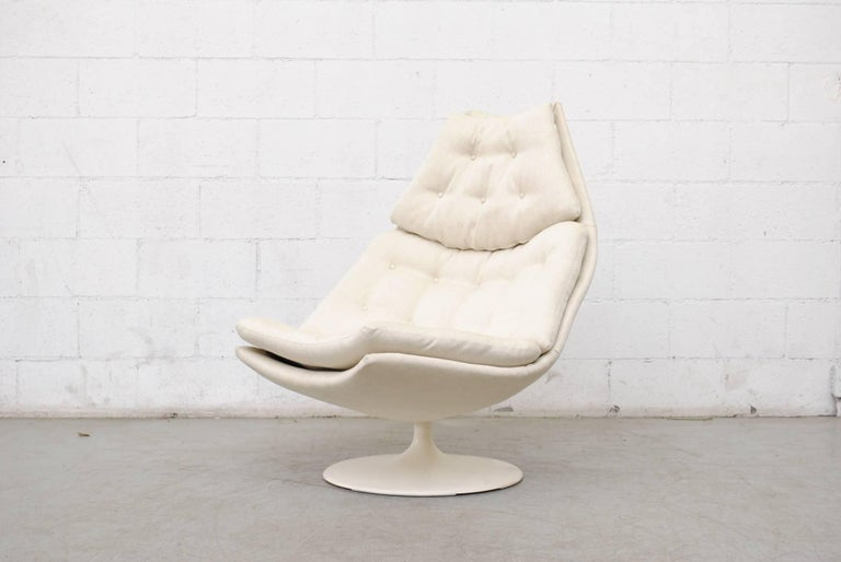 Mid-Century Modern Geoffrey Harcourt F588 Lounge Chair for Artifort with Ottoman For Sale