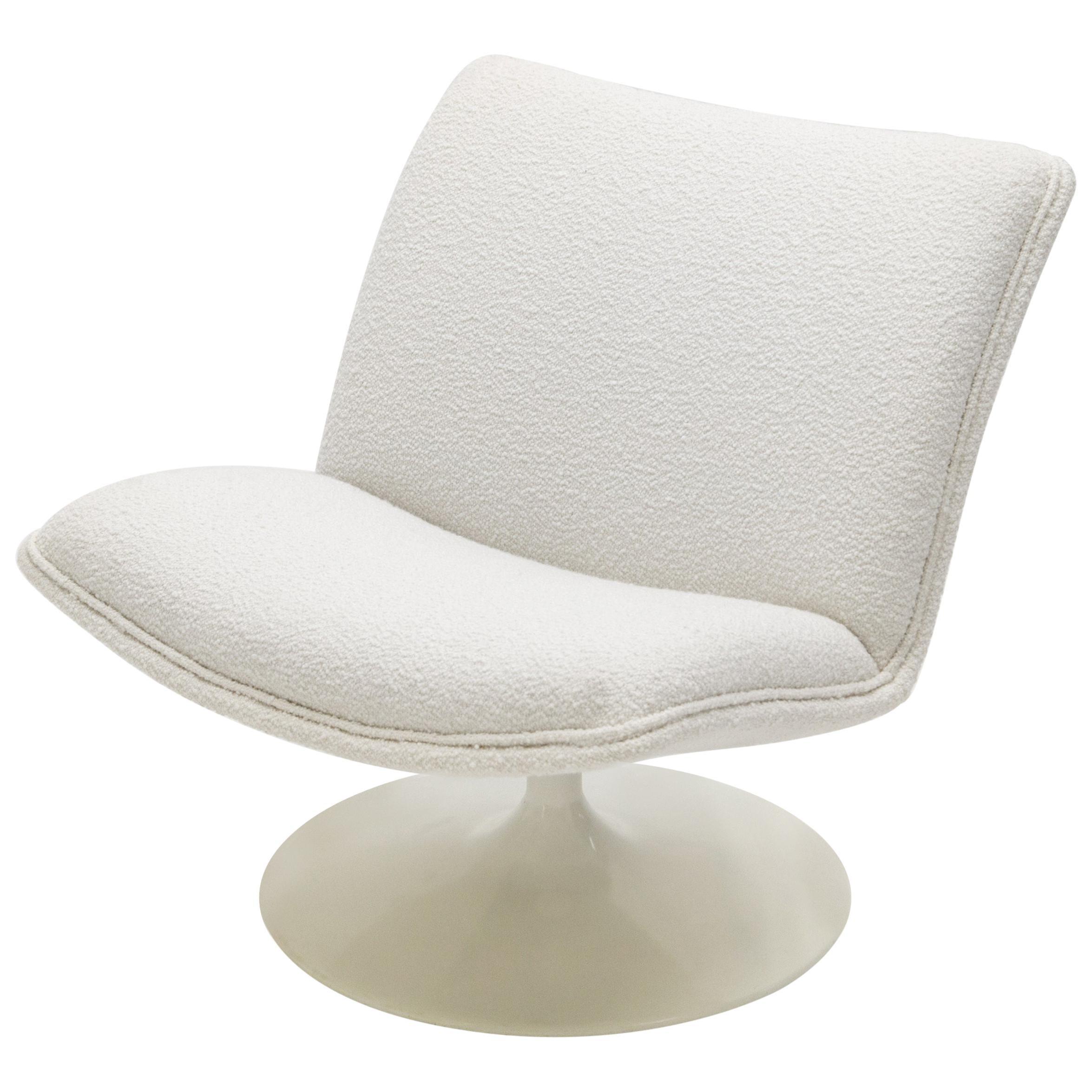 Geoffrey Harcourt for Artifort F504 Swivel Lounge Chair Bouclé, 1960s