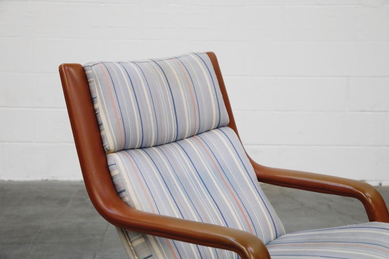 Geoffrey Harcourt for Artifort Model #F-140 Swivel Lounge Armchair, circa 1970s For Sale 8