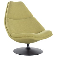 Geoffrey Harcourt Lounge Chair Model F590 in Green Fabric for Artifort