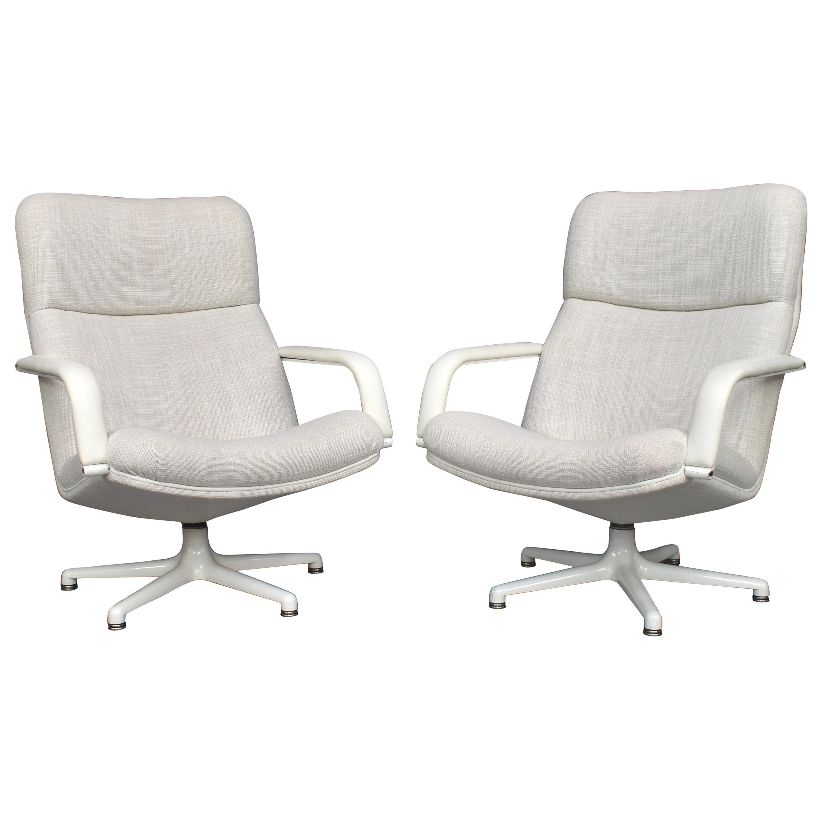 Geoffrey Harcourt Model F154 Swivel Lounge Armchairs by Artifort