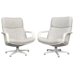 Geoffrey Harcourt Model F154 Swivel Lounge Armchairs by Artifort