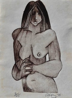 Study Of A Nude. Geoffrey Key Limited Edition Print. 3 of 20