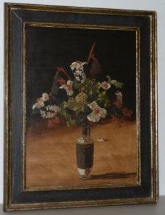 """Geoffrey Lewis """"A Formal Affair"""" Still Life Oil Painting c.1969"""