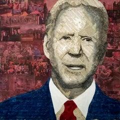 Geoffrey Stein, President Biden, Collage material from the New York Times