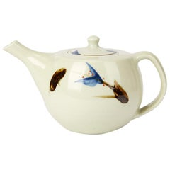 Geoffrey Whiting Porcelain Floral Studio Teapot, 20th Century