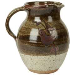 Geoffrey Whiting Tenmoku Pattern Studio Pottery Jug, 20th Century