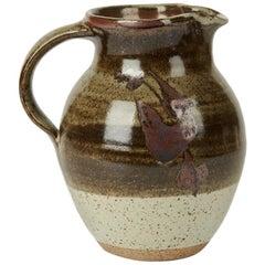 Geoffrey Whiting Tenmoku Pattern Studio Pottery Jug, 20th Century
