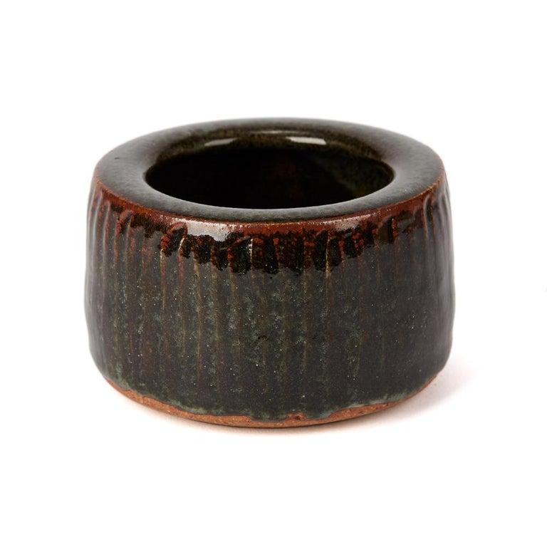 Modern Geoffrey Whiting Tenmoku Studio Pottery Bowl, 20th Century For Sale