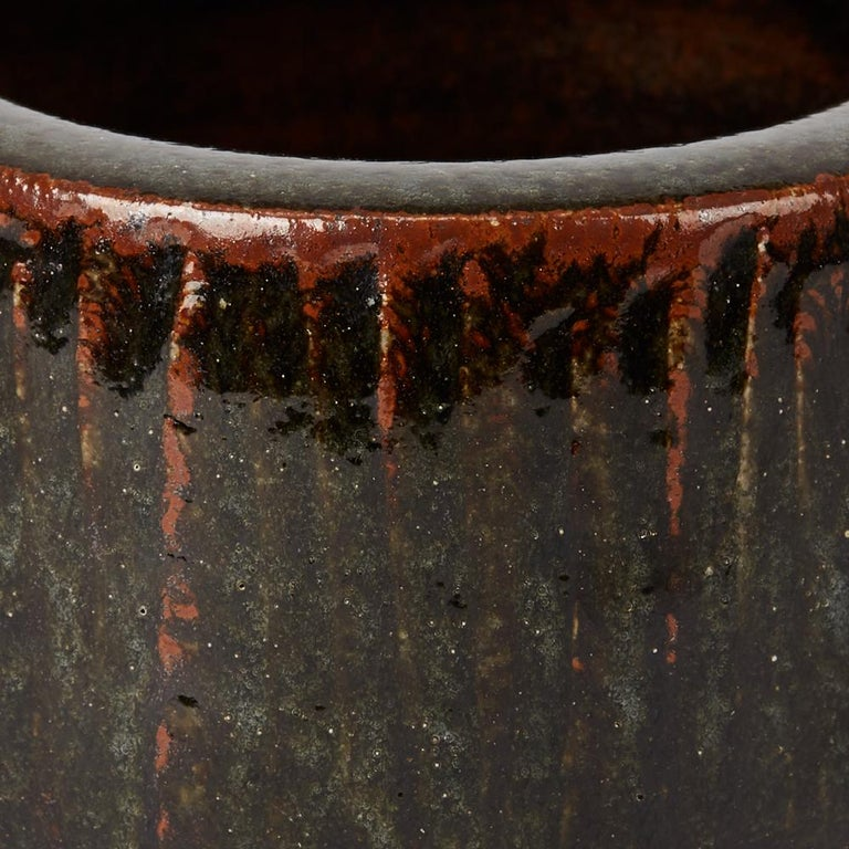 Geoffrey Whiting Tenmoku Studio Pottery Bowl, 20th Century For Sale 2