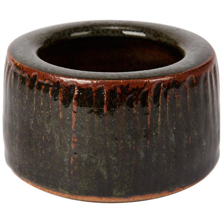 Geoffrey Whiting Tenmoku Studio Pottery Bowl, 20th Century For Sale