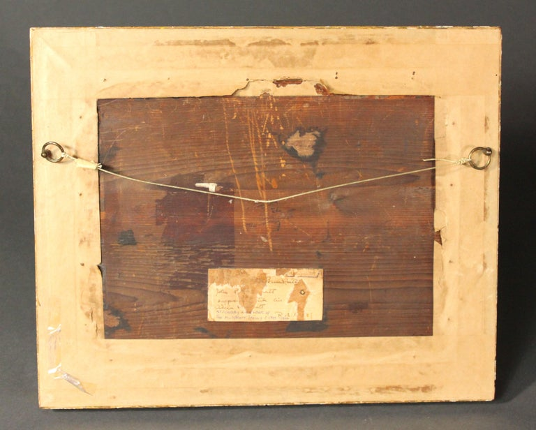 Geoge III Needlework of a Girl Feeding a Rabbit In Good Condition For Sale In Bradford-on-Avon, Wiltshire
