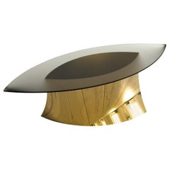 Geometra Polished Bronze Dining Table