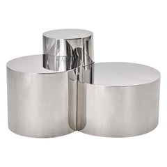 Geometria Cerchi #3 Coffee Table by form A-Polished Steel Version