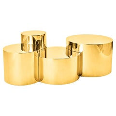 Geometria Cerchi 4 Coffee Table Brass Version by form A