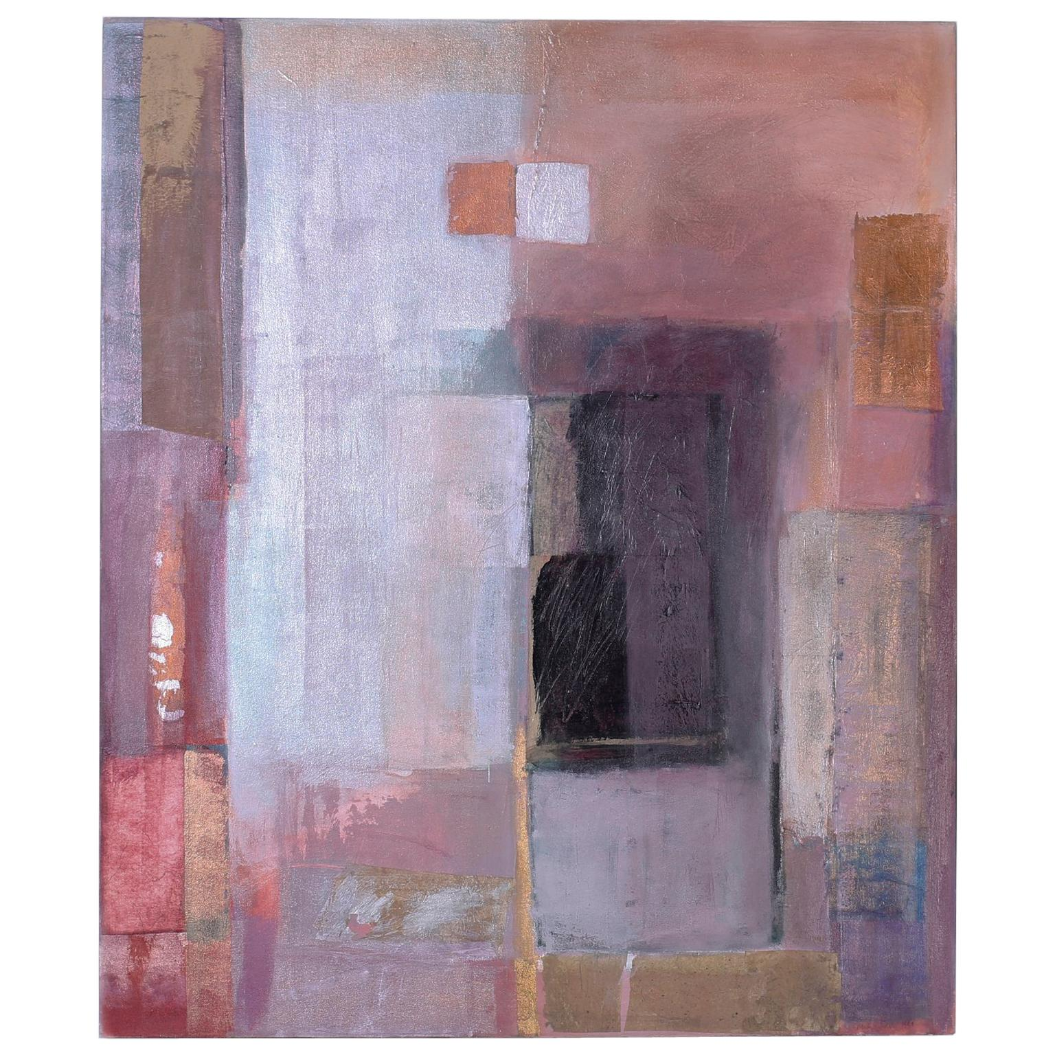 Geometric Abstract Painting on Canvas