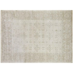 Geometric and Floral Pattern Area Rug