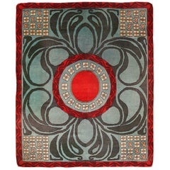 Geometric Antique French Art Deco Rug. 8 ft x 9 ft 10 in