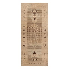 Geometric Antique Persian Bidjar Runner Rug 4 ft 2 in x 9 ft (1.27 m x 2.74 m)