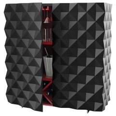 Geometric Black Cantina Bar Cabinet from Rocky Collection by Joel Escalona