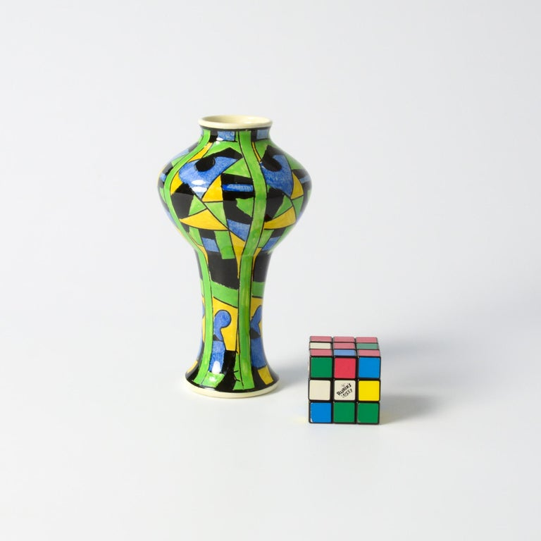 This polychrome vase was designed by Charles Catteau for Boch Freres.