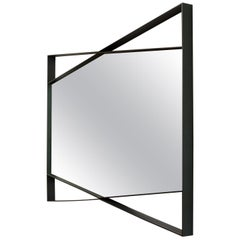 Geometric Mirror, Blackened Steel, Bow Tie, Large, Geometric by Force/Collide