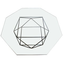Geometric Bronze Coffee Table by Milo Baughman for Directional