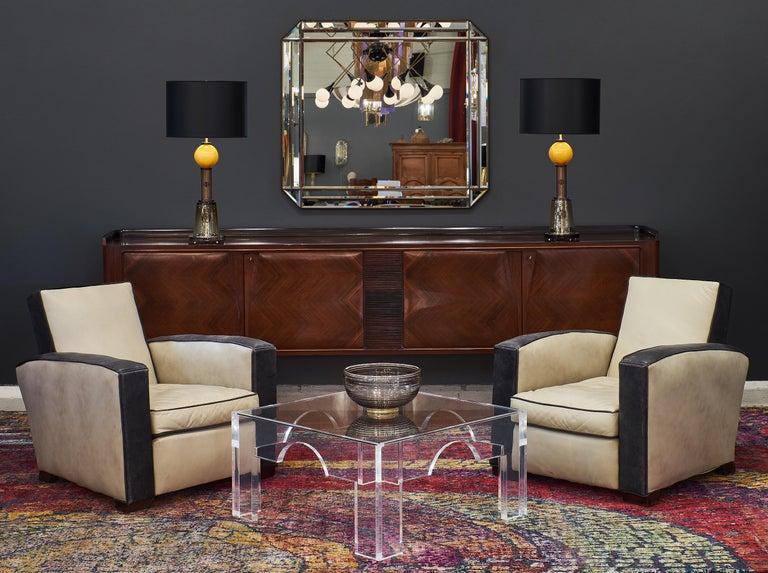 Geometric Caramel Murano Glass Lamps 2