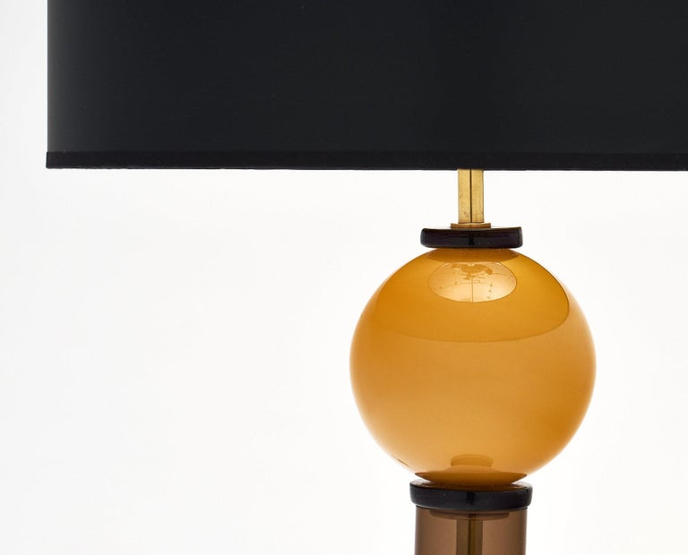 Geometric Caramel Murano Glass Lamps 4