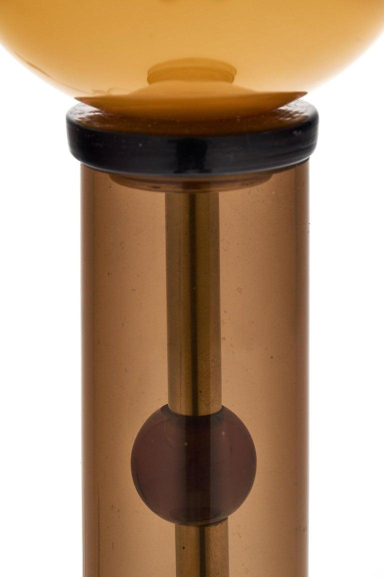 Geometric Caramel Murano Glass Lamps 7