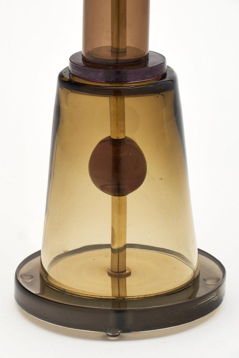 Geometric Caramel Murano Glass Lamps 8