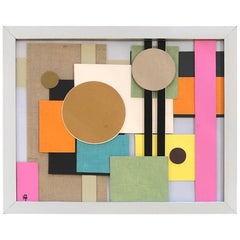 Geometric Collage by Artist Heather Borsche Contemporary Art California Design
