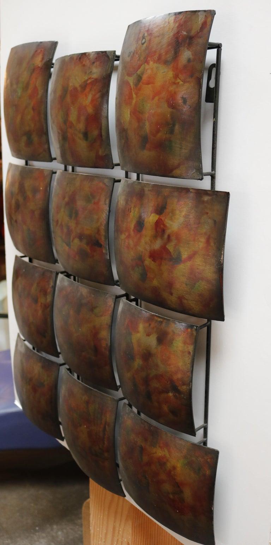 American Geometric Copper Wall Sculpture For Sale