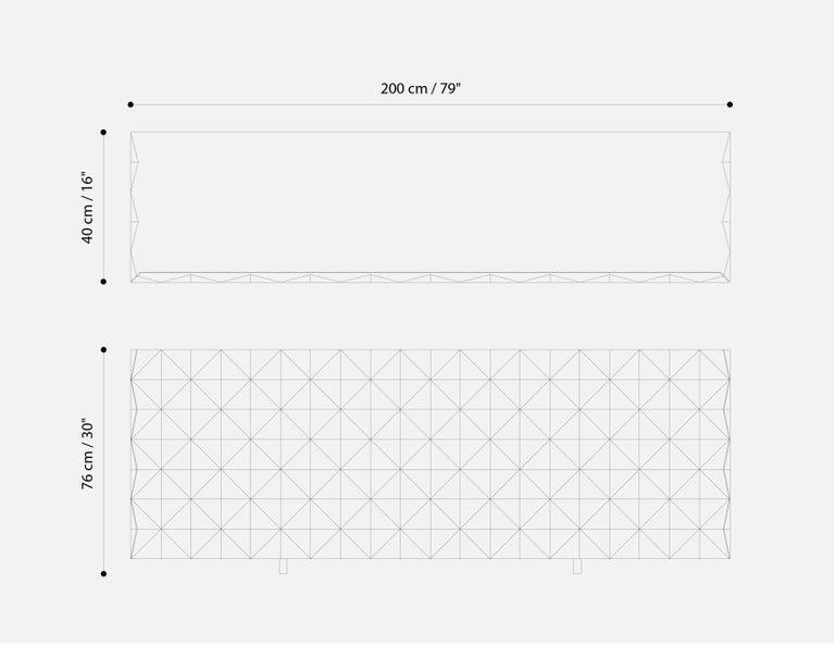 Hardwood Geometric Credenza